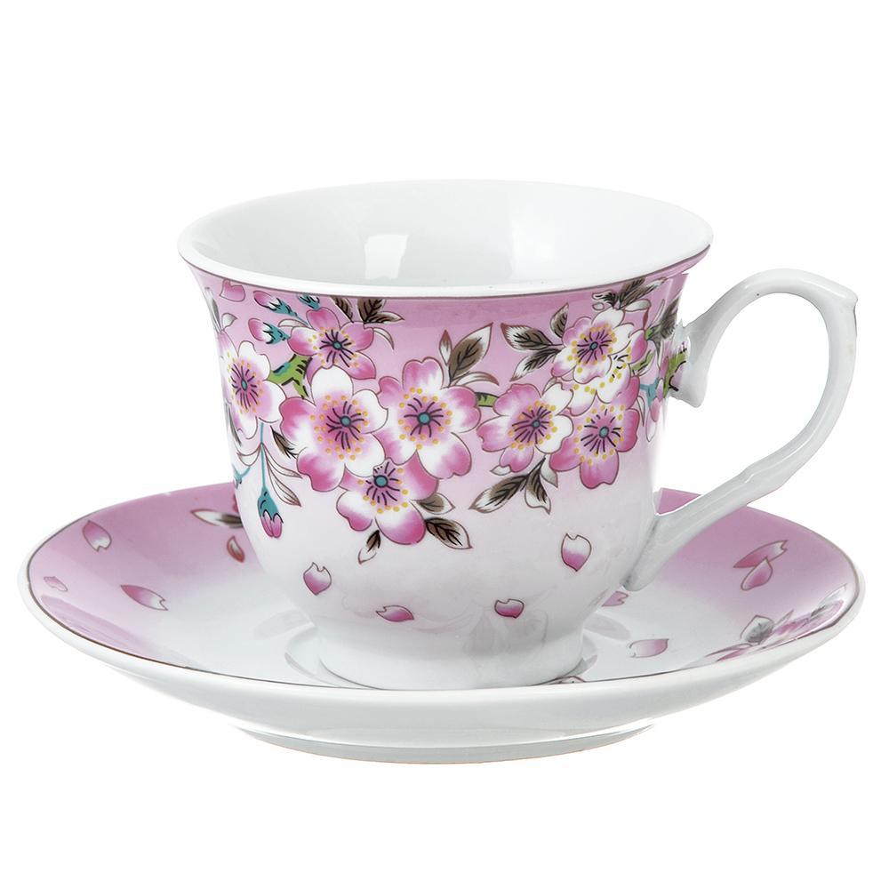 Чайный сервиз 12 предметов Сакура 220мл, фарфор