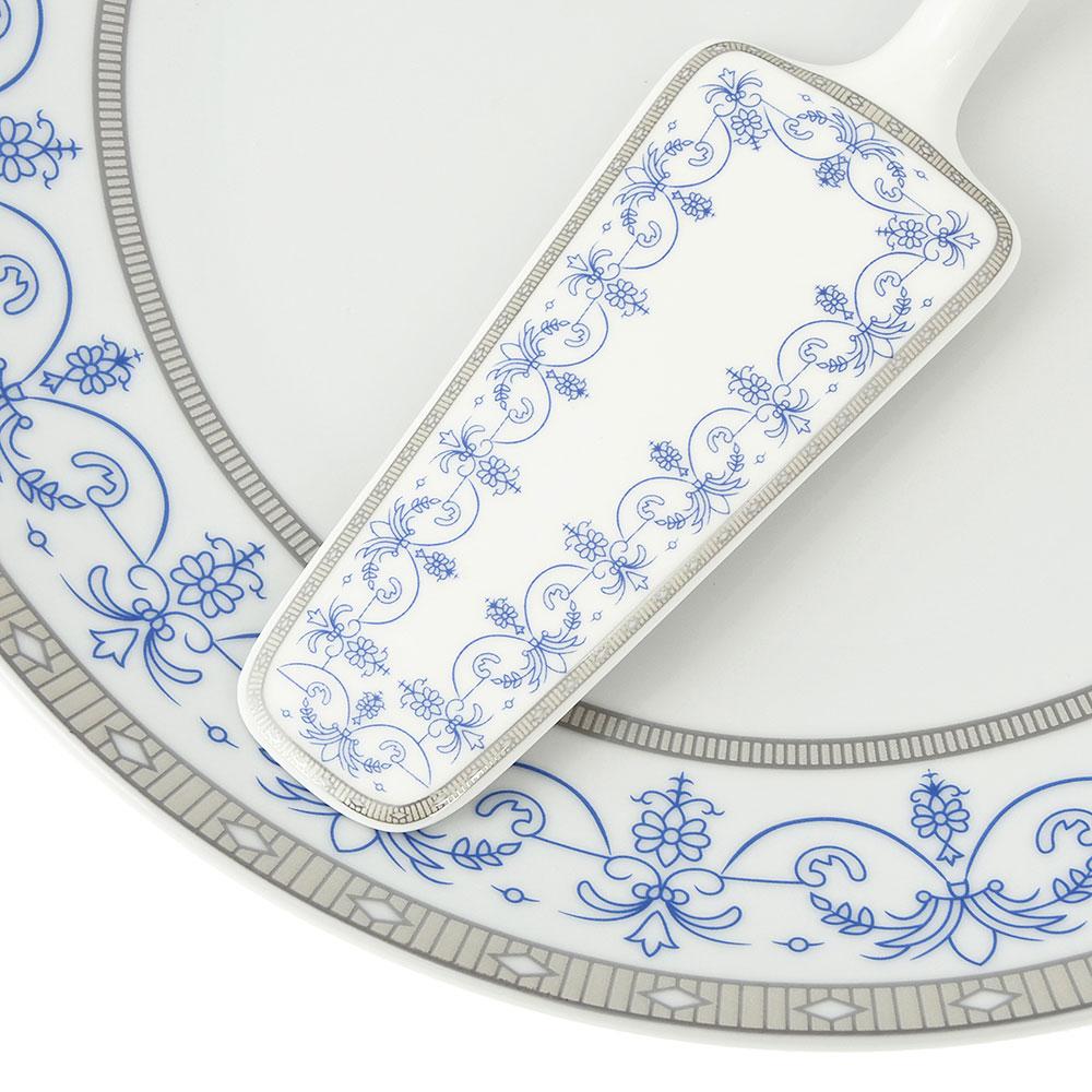 Набор для торта 2 предмета Сальса (блюдо, лопатка), фарфор