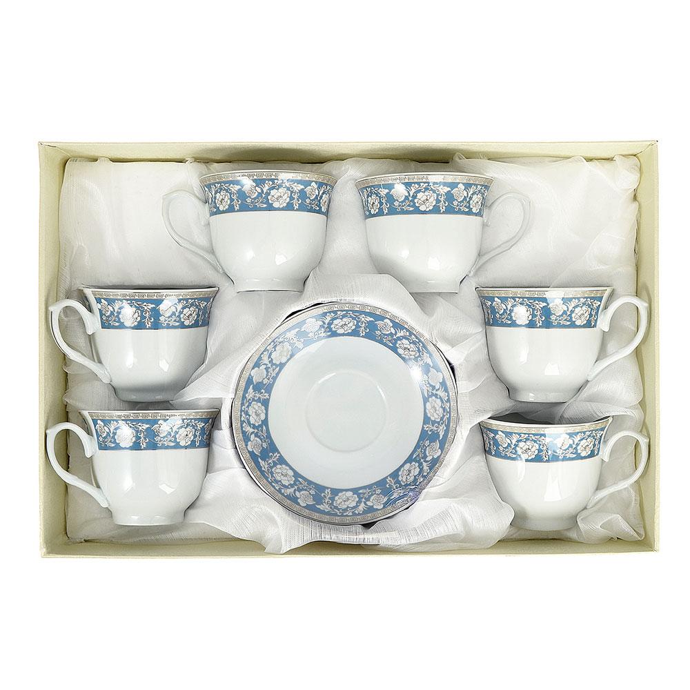 Чайный сервиз 12 предметов Савойя 220мл, фарфор
