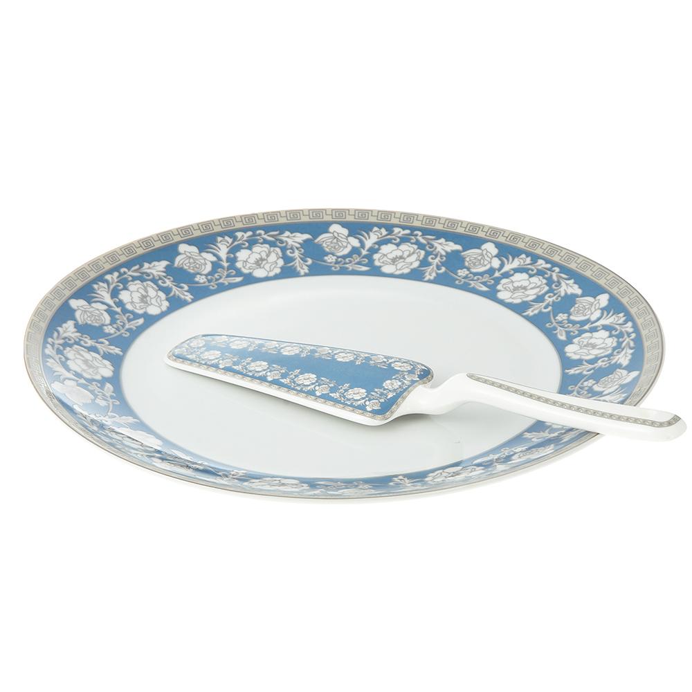 Набор для торта 2 предмета Савойя (блюдо, лопатка), фарфор