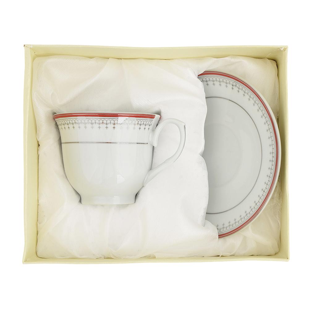 Чайный сервиз 2 предмета Стелла 220мл, фарфор