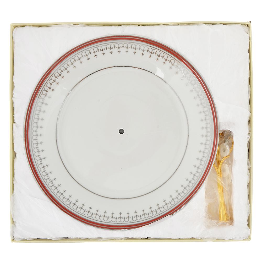 Ваза для фруктов двухъярусная Стелла d=20см, d=23см, высота 23,5см, фарфор