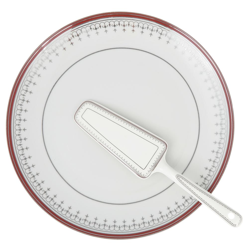 Набор для торта 2 предмета (блюдо, лопатка), фарфор