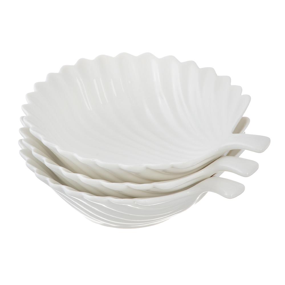 Набор блюд 3 предмета MILLIMI Ракушка 16,5х15х4см, костяной фарфор