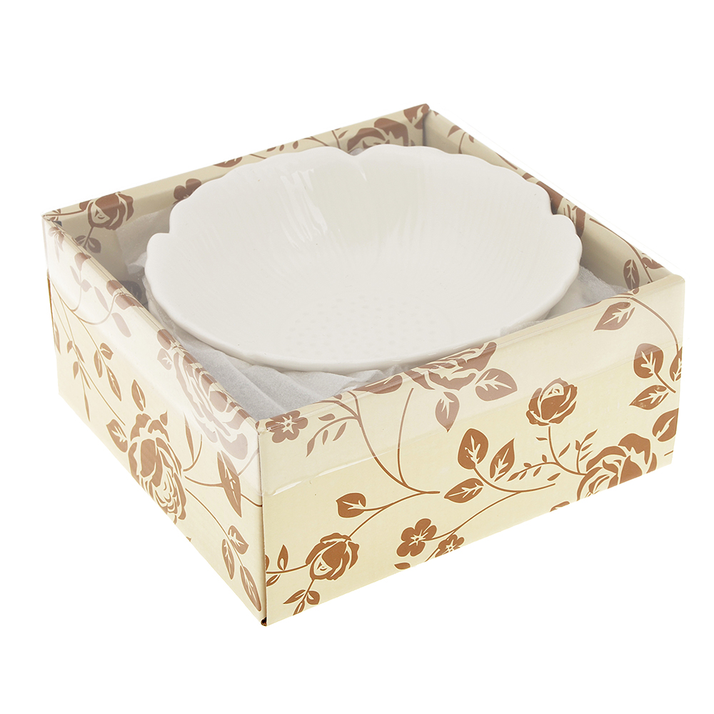 Набор блюд 3 предмета MILLIMI Цветок 15,5х4,5см, костяной фарфор