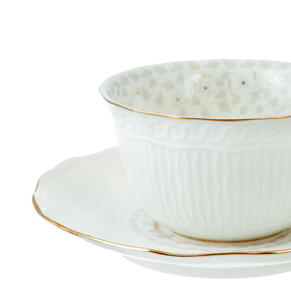 Чайный сервиз 4 предмета MILLIMI Вивьен 250мл, костяной фарфор
