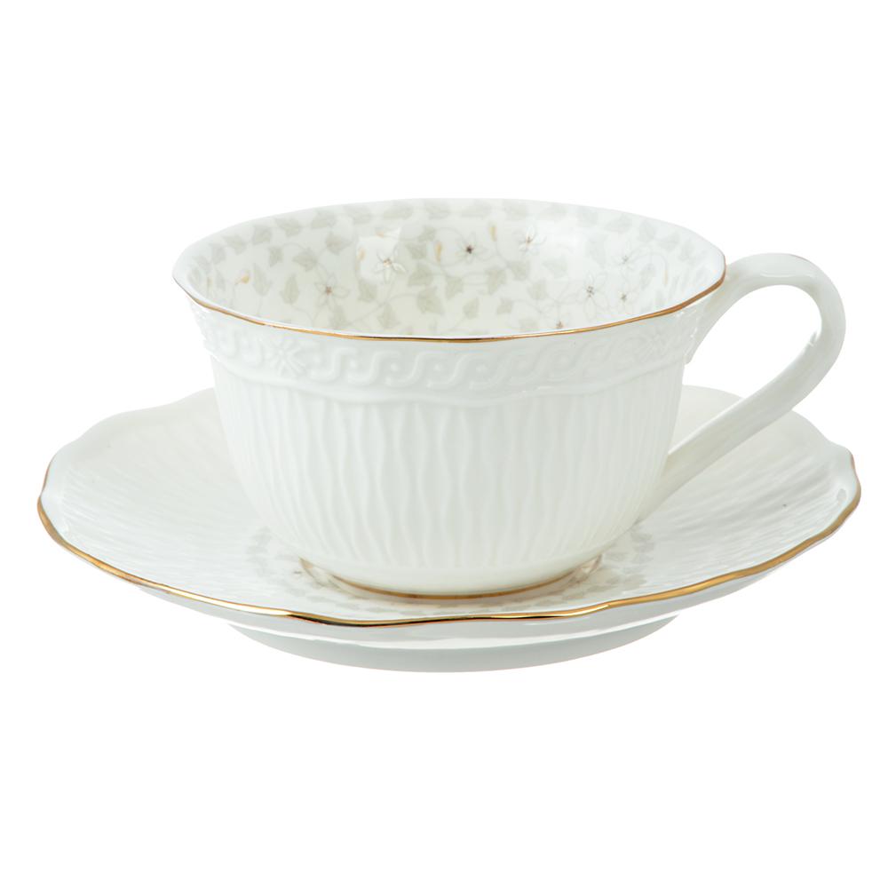 Чайный сервиз 12 предметов MILLIMI Вивьен 250мл, костяной фарфор