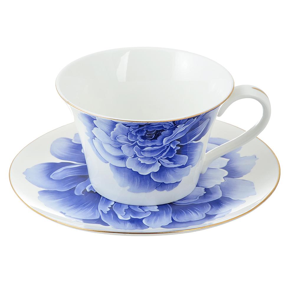 Чайный сервиз 2 предмета MILLIMI Виолета 270мл, костяной фарфор
