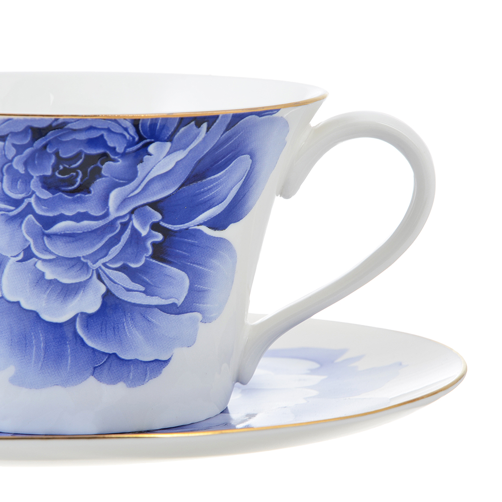 Чайный сервиз 12 предметов MILLIMI Виолета 270мл, костяной фарфор