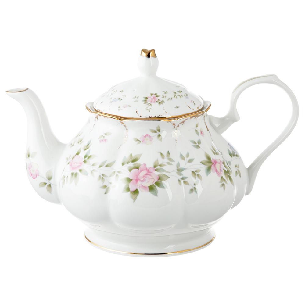 Чайник заварочный MILLIMI Вуаль 1250мл, костяной фарфор