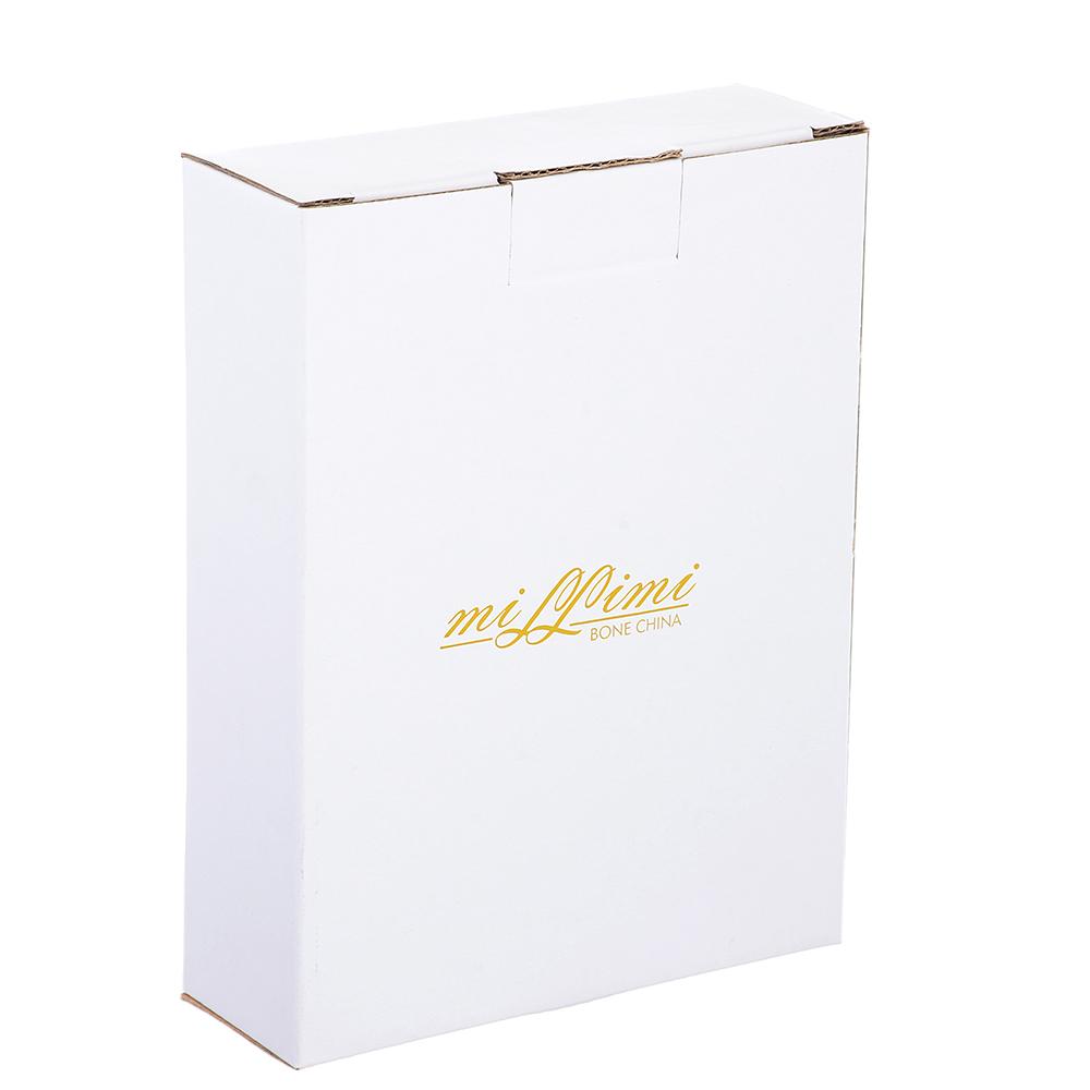 Салатник овальный MILLIMI Вуаль 16,5х12,5х4,5см, костяной фарфор