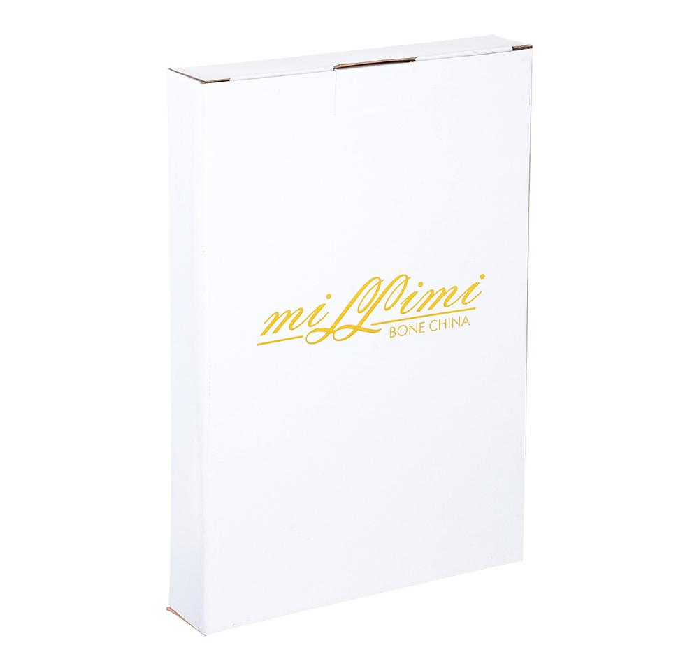 Блюдо MILLIMI Вуаль 25,5х17х3,5см, костяной фарфор