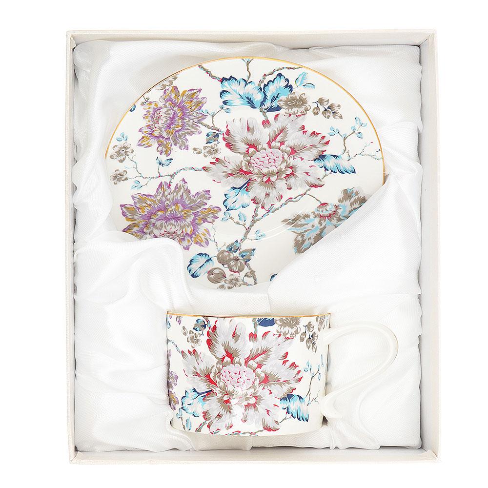 Чайный сервиз 2 предмета MILLIMI Вивальди 270мл, костяной фарфор