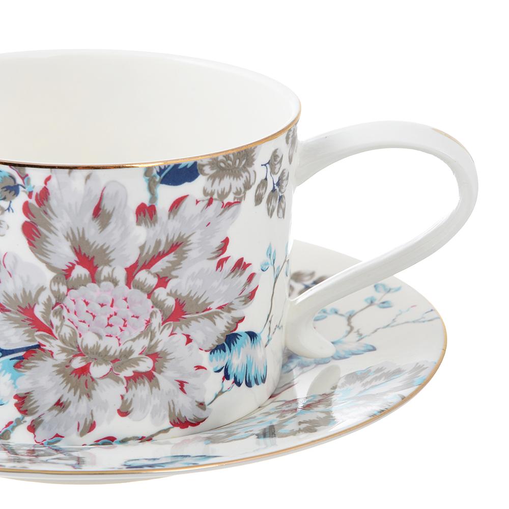 Чайный сервиз 4 предмета MILLIMI Вивальди 270мл, костяной фарфор