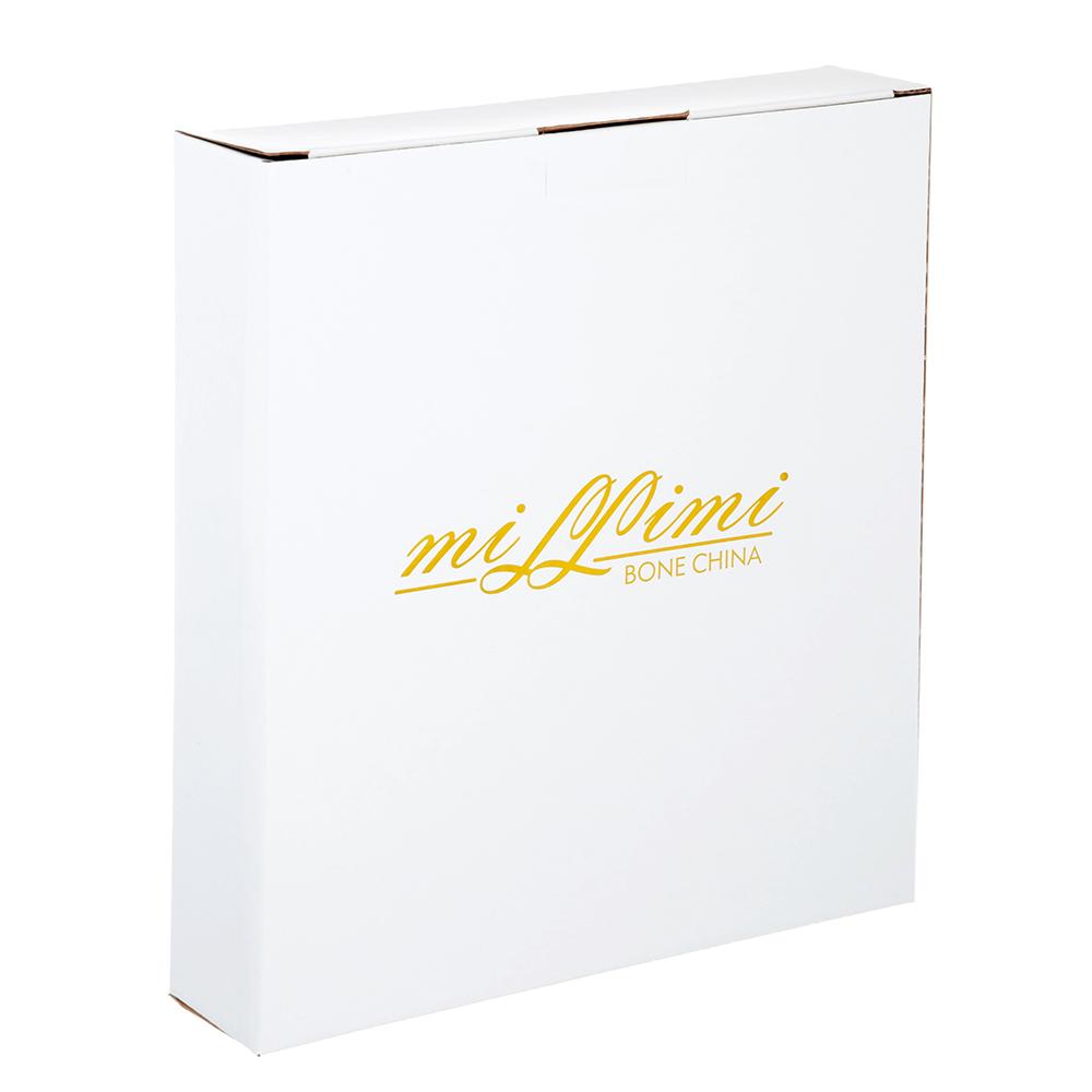 Конфетница с металлической ручкой MILLIMI Вальс 22х22х4см, костяной фарфор