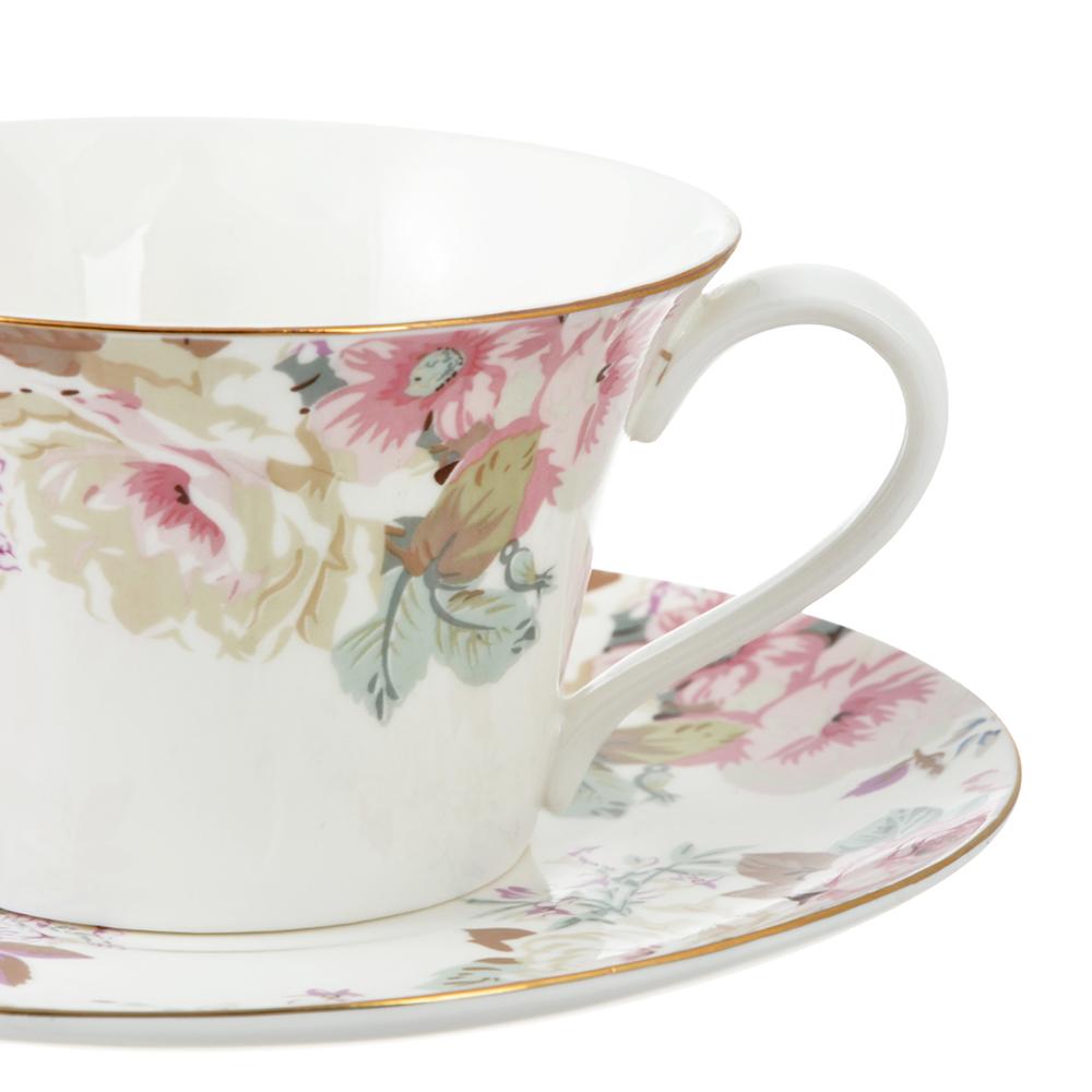 Чайный сервиз 4 предмета MILLIMI Верона 270мл, костяной фарфор