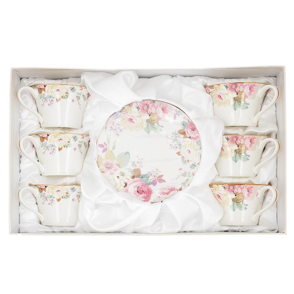 Чайный сервиз 12 предметов MILLIMI Верона 270мл, костяной фарфор