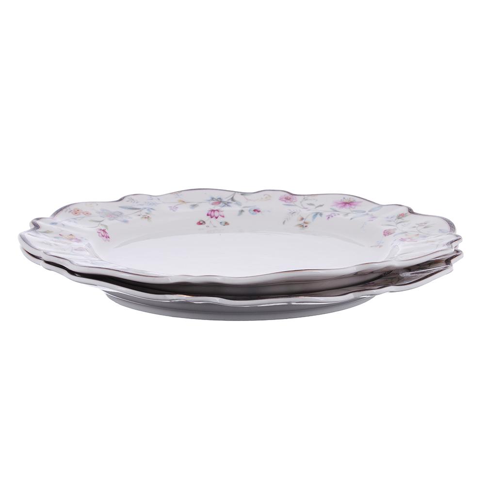 MILLIMI Маркиза Набор тарелок 3пр., 23 см, костяной фарфор