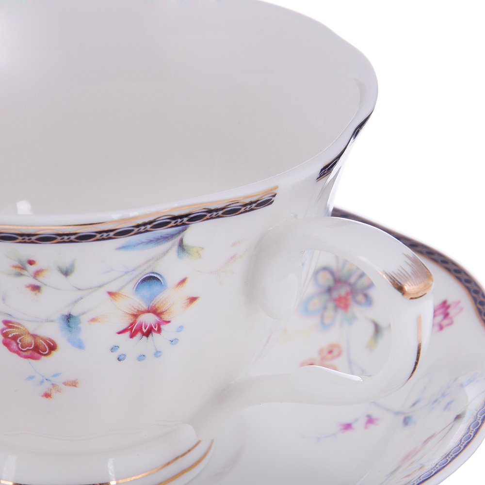 MILLIMI Маркиза Набор чайный 2 пр. (чашка 250мл, блюдце 15см), костяной фарфор
