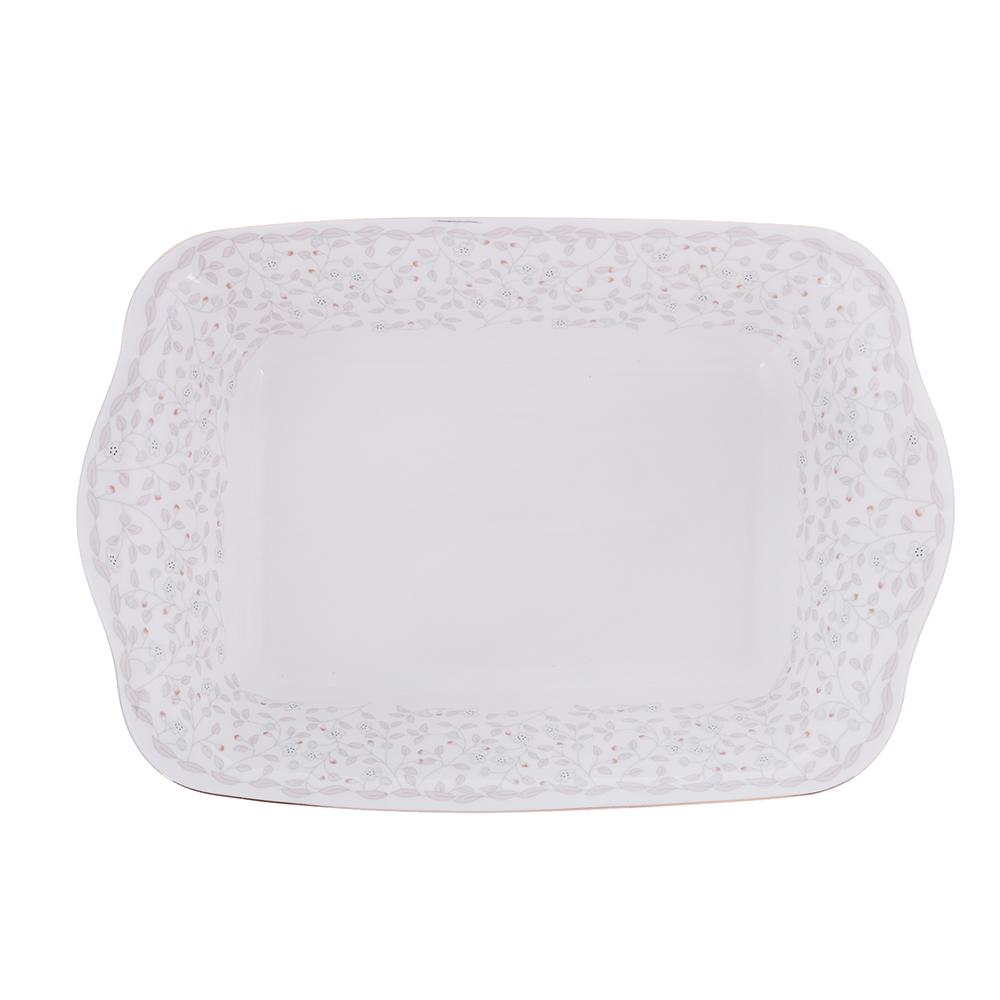 MILLIMI Тайна Форма для запекания и многослойных салатов 28x17,5x6см, костяной фарфор