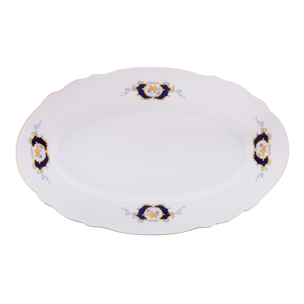 MILLIMI Менуэт Блюдо овальное, 30,5х18,5х2.5см, костяной фарфор