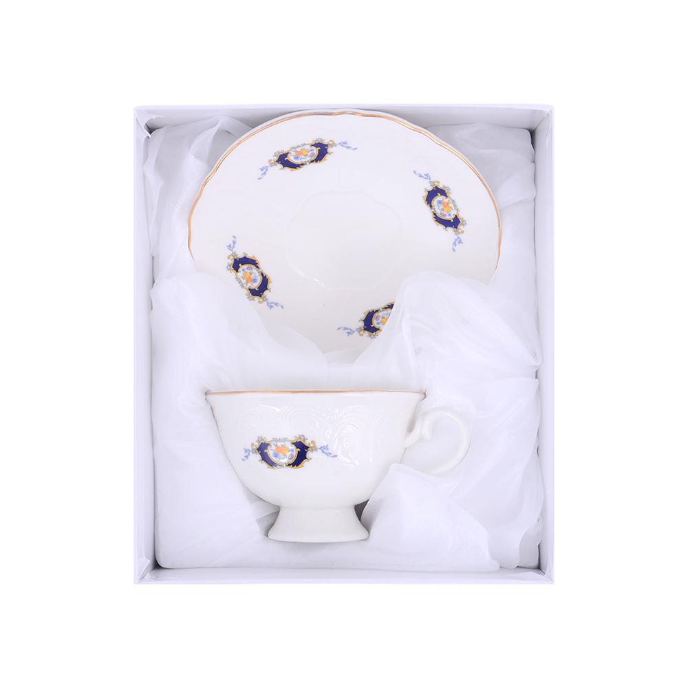 MILLIMI Менуэт Набор чайный 2 пр.(чашка 230мл, блюдце 15см), костяной фарфор