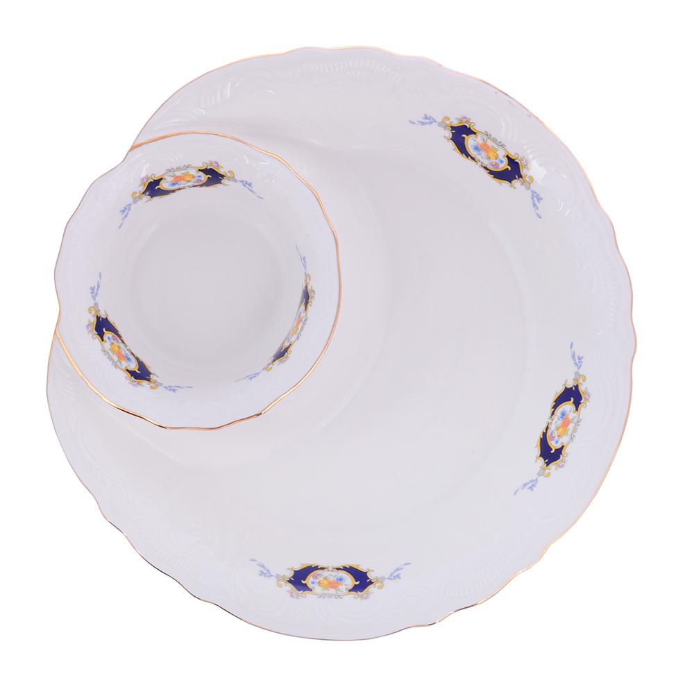 MILLIMI Менуэт Блюдо сервировочное, 25х4,5см, костяной фарфор