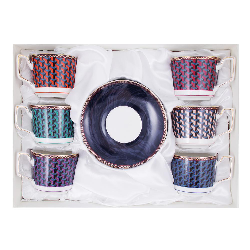 Чайный сервиз 12 предметов MILLIMI Элегия 260мл, костяной фарфор