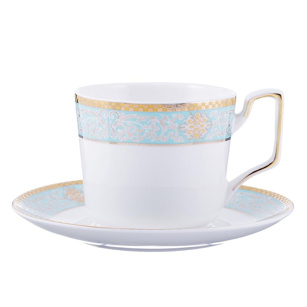 Чайный сервиз 12 предметов MILLIMI Лагуна 260мл, костяной фарфор