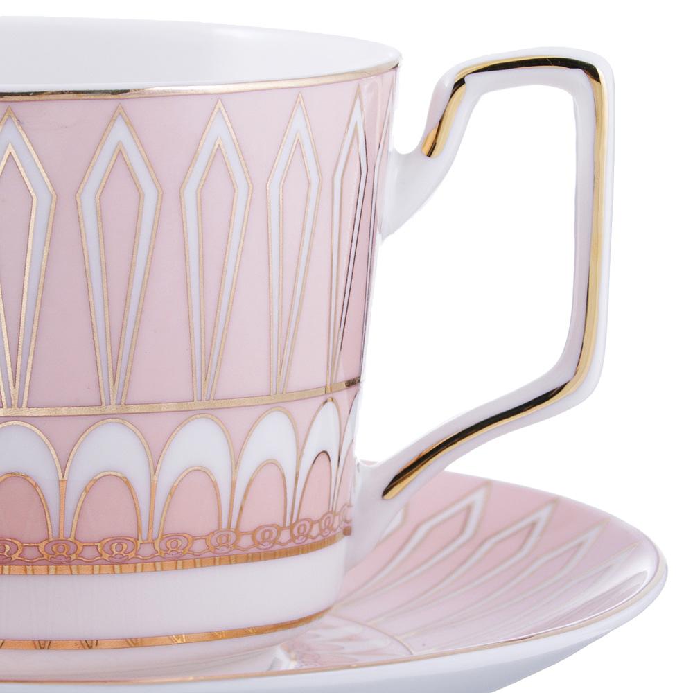 Чайный сервиз 2 предмета MILLIMI Восторг 260мл, костяной фарфор