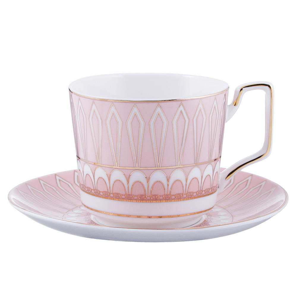 Чайный сервиз 4 предмета MILLIMI Восторг 260мл, костяной фарфор
