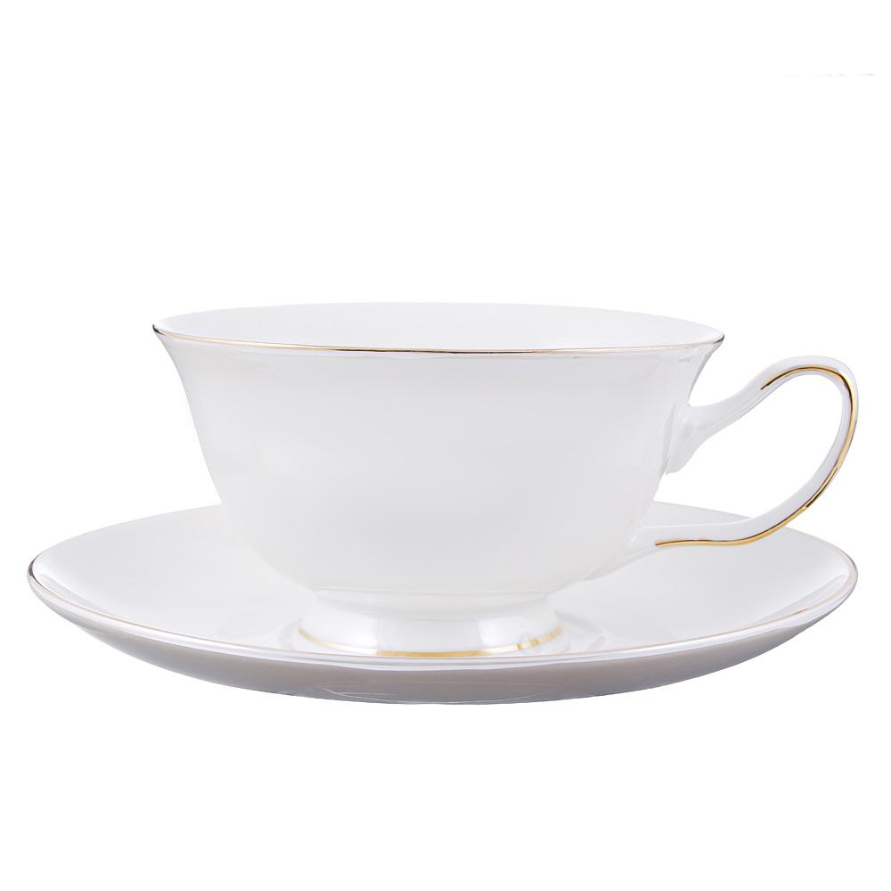 Чайный сервиз 2 предмета MILLIMI Перламутр 220мл, костяной фарфор