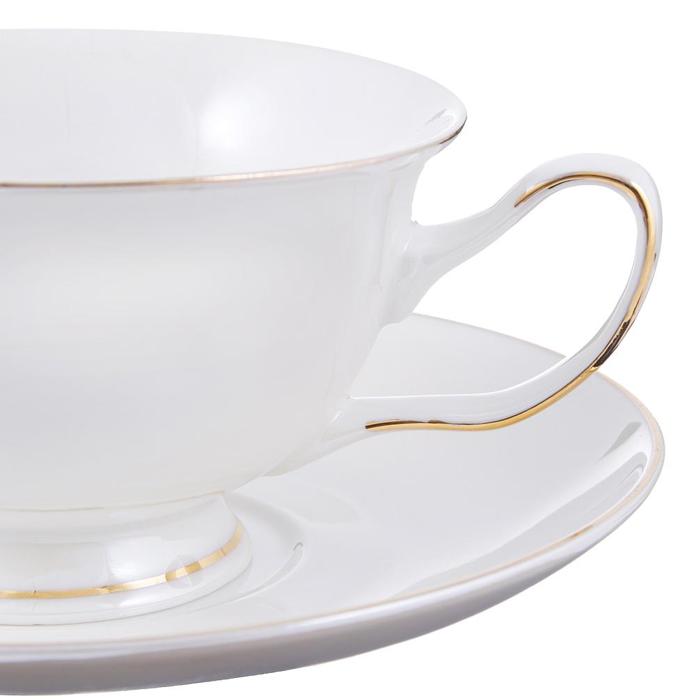 Чайный сервиз 4 предмета MILLIMI Перламутр 220мл, костяной фарфор