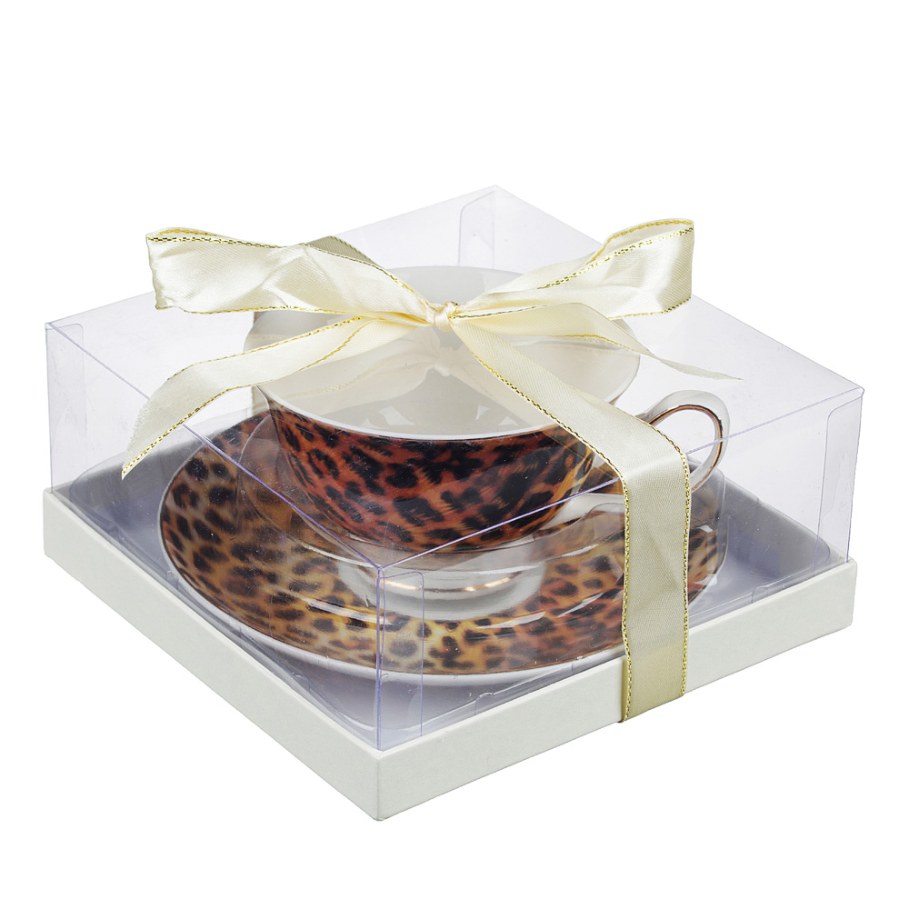 Чайный сервиз 2 предмета MILLIMI Леопард 220мл, костяной фарфор
