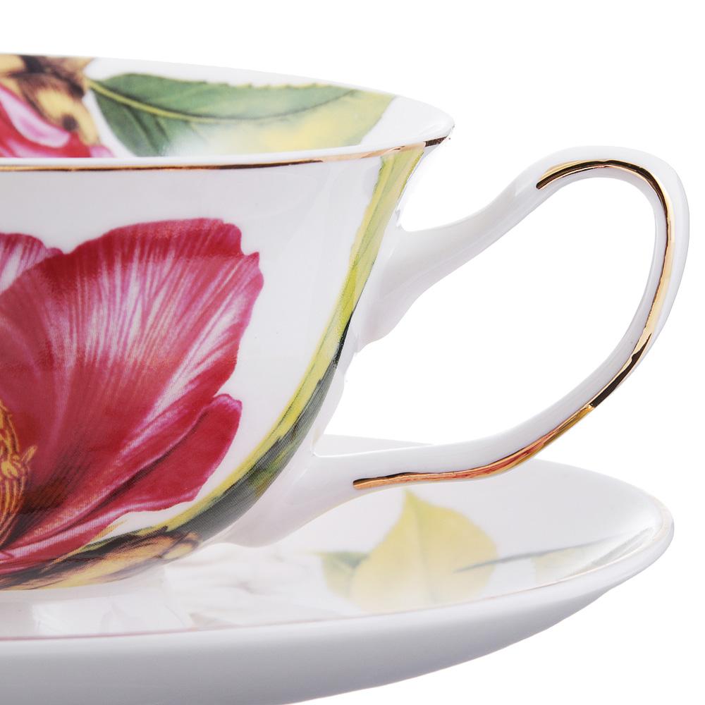 Чайный сервиз 4 предмета MILLIMI Вдохновение 220мл, костяной фарфор