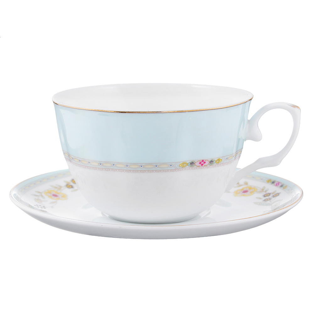 Чайный сервиз 2 предмета MILLIMI Марсела 250мл, тонкий фарфор