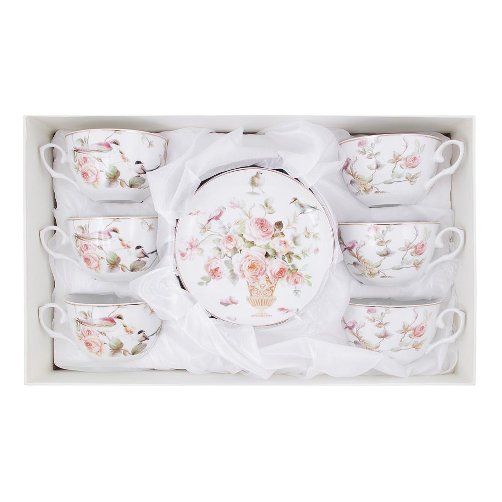 Чайный сервиз 12 предметов MILLIMI Ангела 250мл, тонкий фарфор