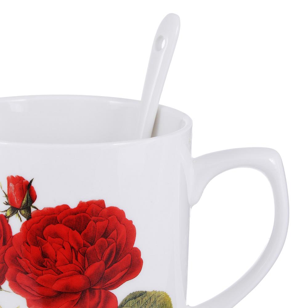 Чайный сервиз MILLIMI Румба (кружка, ситечко, ложка, крышка), костяной фарфор