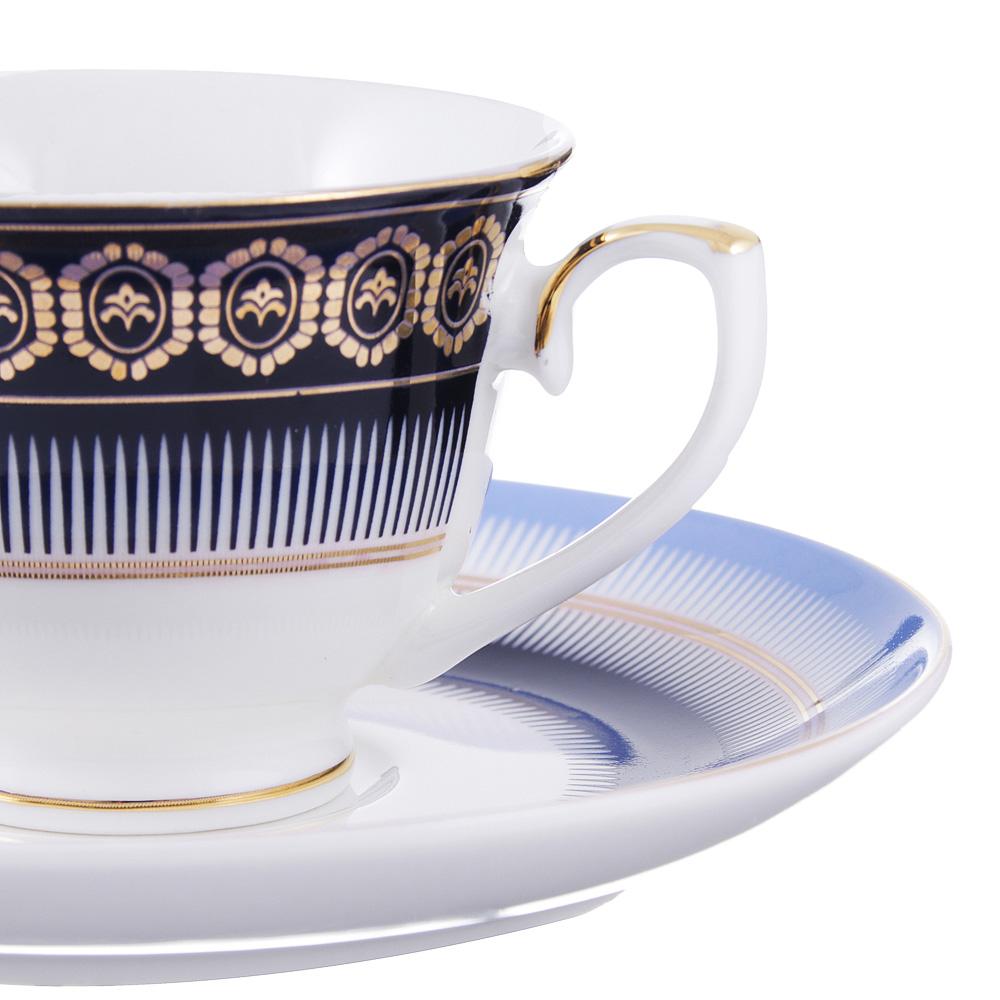 Набор кофейный 4 предмета MILLIMI Адмирал 90мл, костяной фарфор