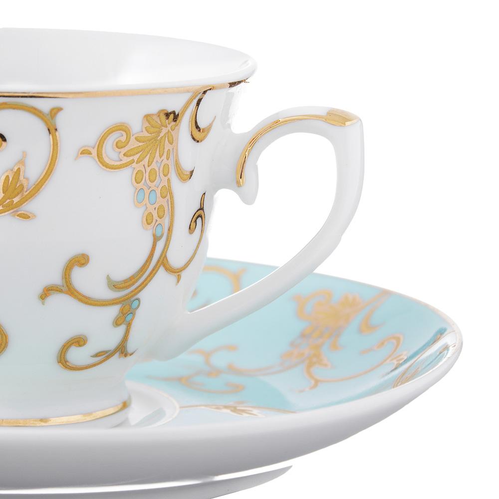 Набор кофейный 4 предмета MILLIMI Грация 90мл, костяной фарфор