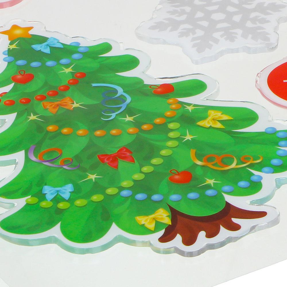 Новогодние наклейки СНОУ БУМ 25х20 см, 6 дизайнов