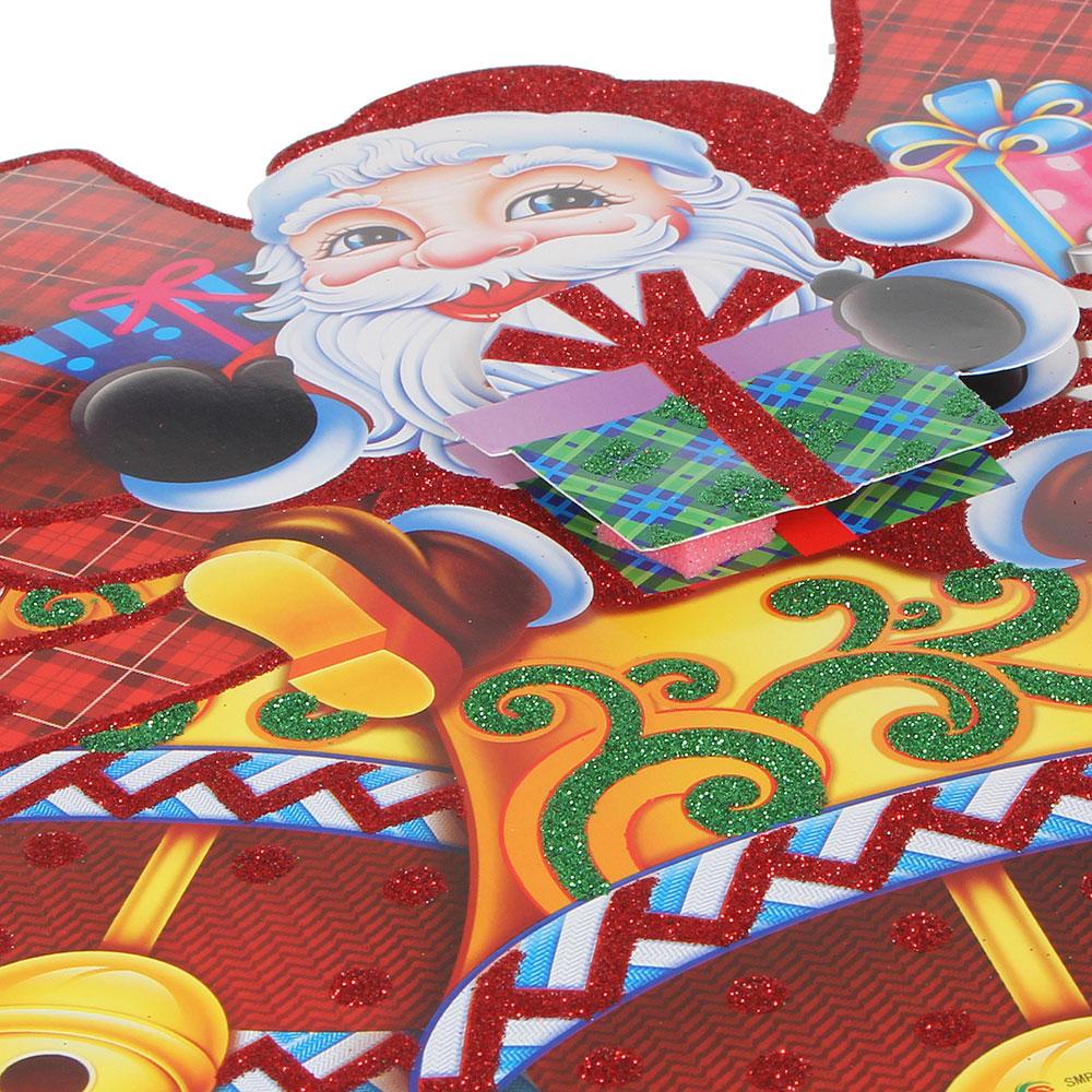 СНОУ БУМ Панно бумажное, 31 см, с Дедом Морозом