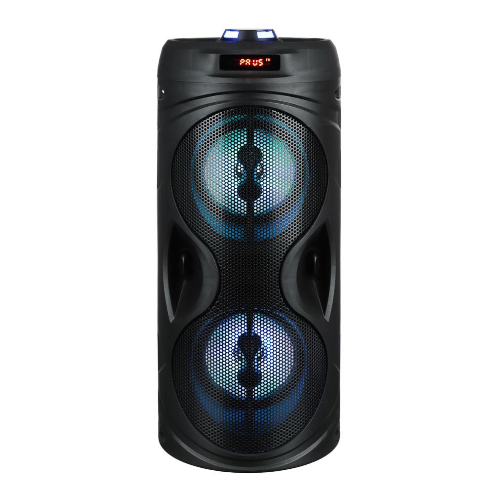 Колонка беспроводная FORZA со светомузыкой, 2400мАч, 10Вт, AUX, USB, черныйматовый