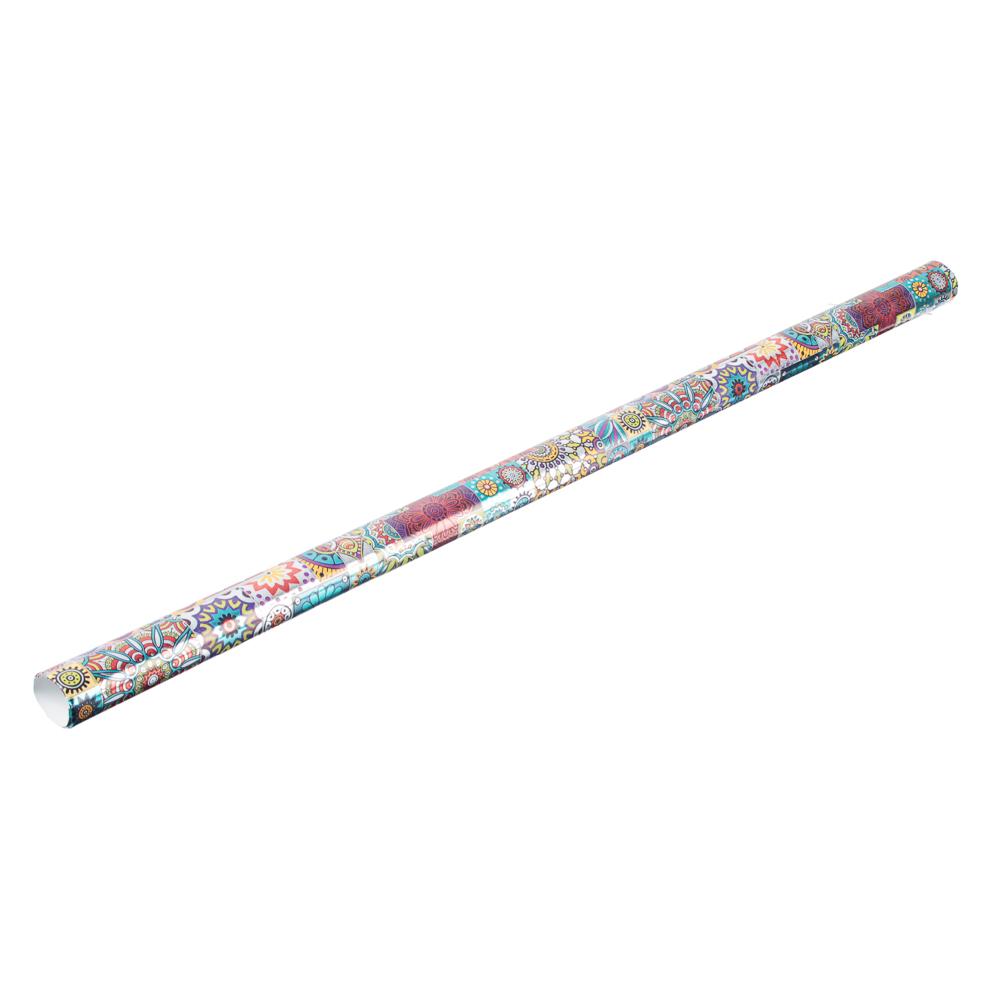 Бумага упаковочная мелованная с блестящим слоем, 67,2 см х 99 см, 10 дизайнов