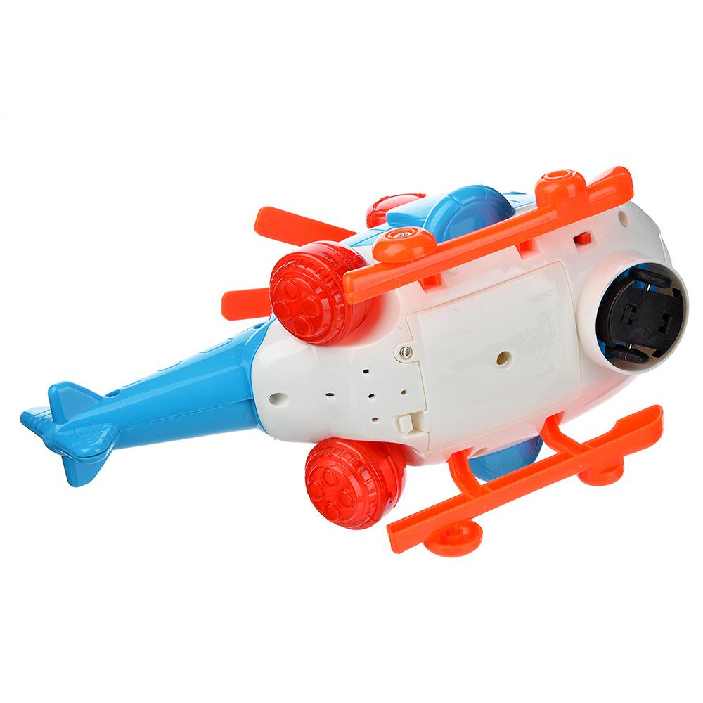 ИГРОЛЕНД Вертолет музыкальный: свет, звук, движение, датчик препятствий, пластик, 23х12х12см.
