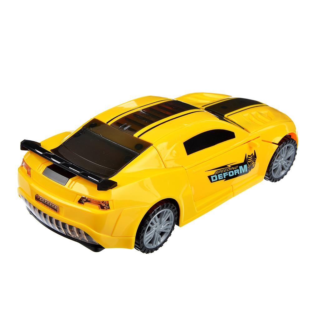ИГРОЛЕНД Авто трансформирующееся: свет, звук, движение, датчик препятствий, пластик, 23х10х7см