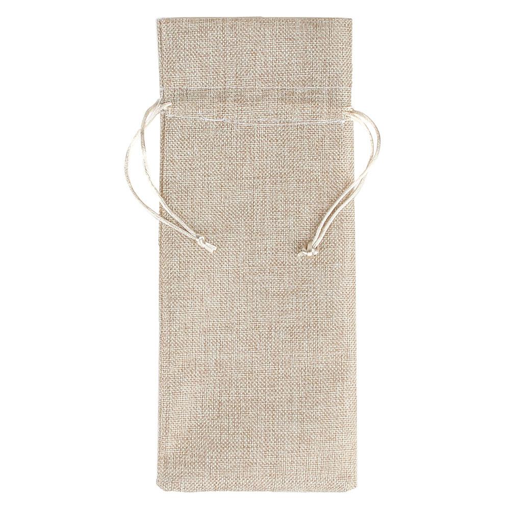 Мешок подарочный, ткань, полиэстер, 14х37 см, для бутылки