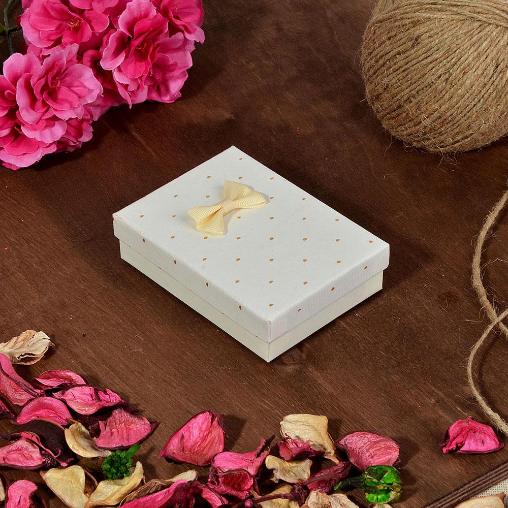 Коробка подарочная с бантом, 11х8х2,5 см, 6 цветов