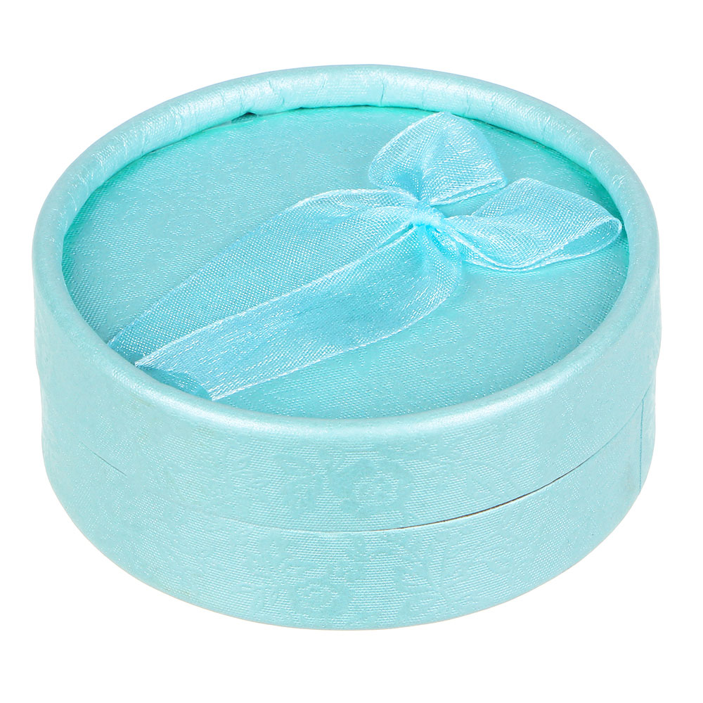 Коробка подарочная с бантом круглая, 8х8х3,5 см, 6 цветов