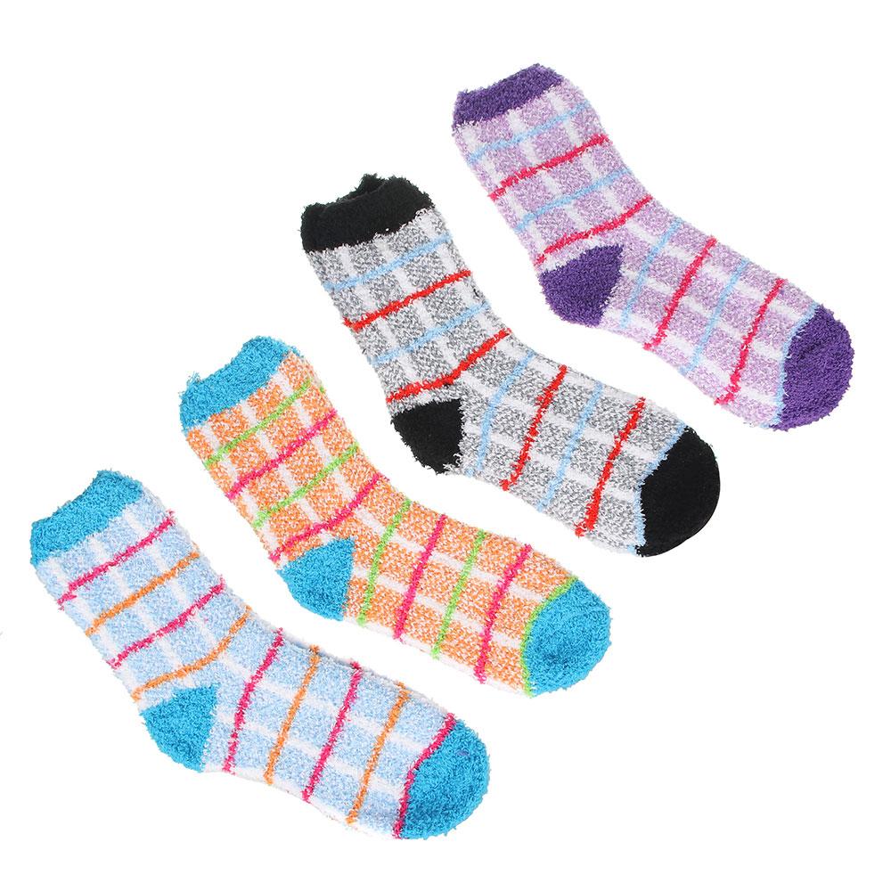 Носки махровые женские, р-р свободный, 80% хлопок, 17% полиэстер, 3% лайкра, 2-4 цвета, НЖ19-3